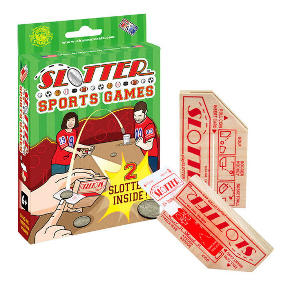 Channel Craft SLOTTER Sports Games Box- Play all the Classic Tabletop Coin Games!