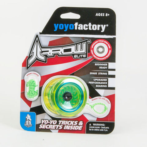 YoYoFactory Arrow Yo-Yo -Beginner Friendly- Extra Bearing Included for Unresponsive Play!