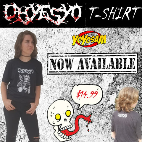 OHYESYO YoYo Company Black T-Shirt- Tattoo Style Illustration with the Logo on the Back - Many Sizes! - YoYoSam