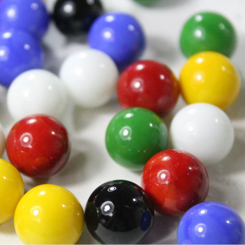 Mega Game Replacement Marbles 14mm -Solid Glass-60 Pieces - Chinese Checkers, Crafting - YoYoSam