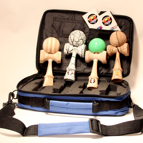 Bahama Kendama 4x Gift Set - 4 Kendamas, Kendama Bag, 2 Three packs of Extra Strings