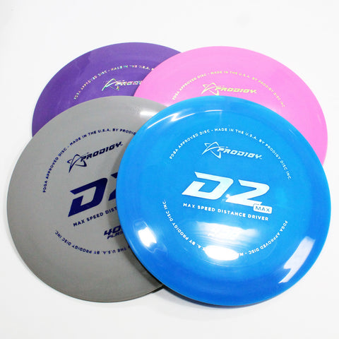 Prodigy D2 Max 400 Disc Golf- Distance Driver - Many Styles! Colors and Weight may Vary (170g -174g) Sold Individually