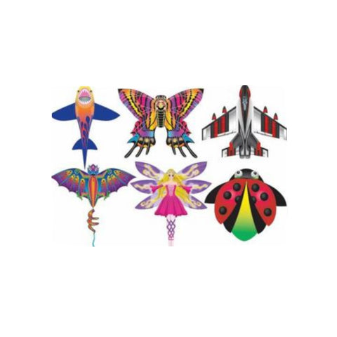 X Kites CloudPleasers Nylon Kite - SkyTails, Quickclip, Line, Handle Included
