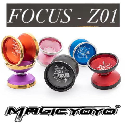 MAGICYOYO FOCUS Z01 Yo-Yo - BI-METAL YoYo - 6061 Aluminum with Stainless Steel Ring!