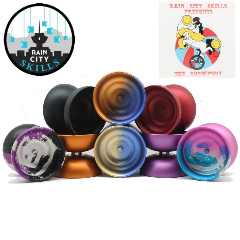 Rain City Skills Show Pony Yo-Yo - Lighter, Faster, More Stable YoYo - Many Extras Included!