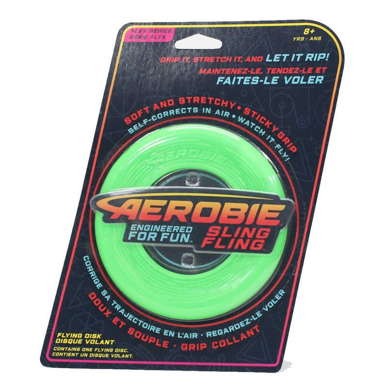 Aerobie Sling Fling - Flexible Flying Disk - Soft Stretchy Disc - YoYoSam