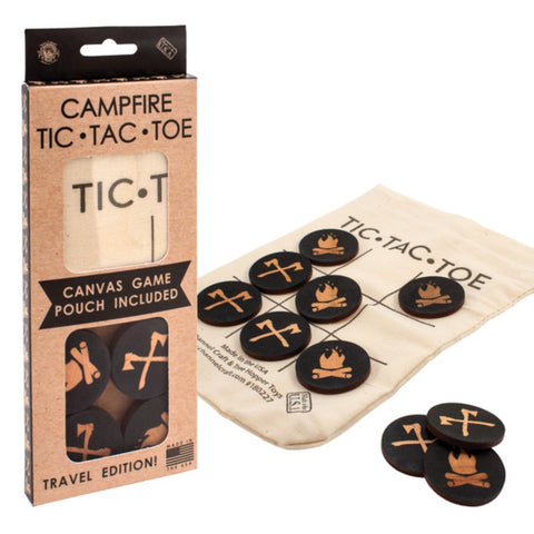 Channel Craft Camping Tic-Tac-Toe To Go - Canvas Pouch Included - Travel Edition