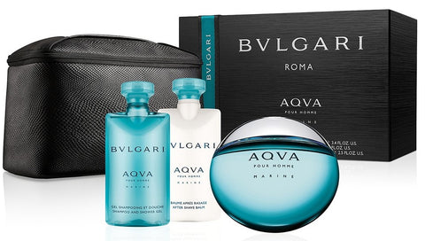 Bvlgari Aqva Marine by Bvlgari for men Set 4pcs