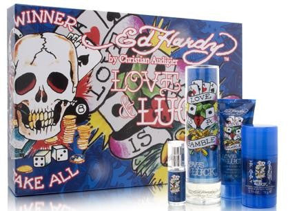 Ed Hardy Love & Luck by Christian Audigier for men 4pcs Gift Set - Parfumerie Arome de vie