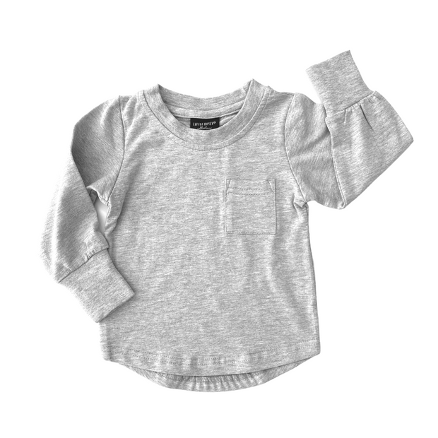Little Bipsy Long Sleeve Pocket Tee