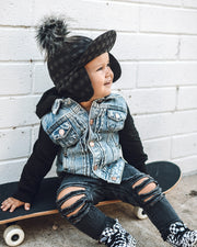 Little Bipsy Hooded Denim Jacket