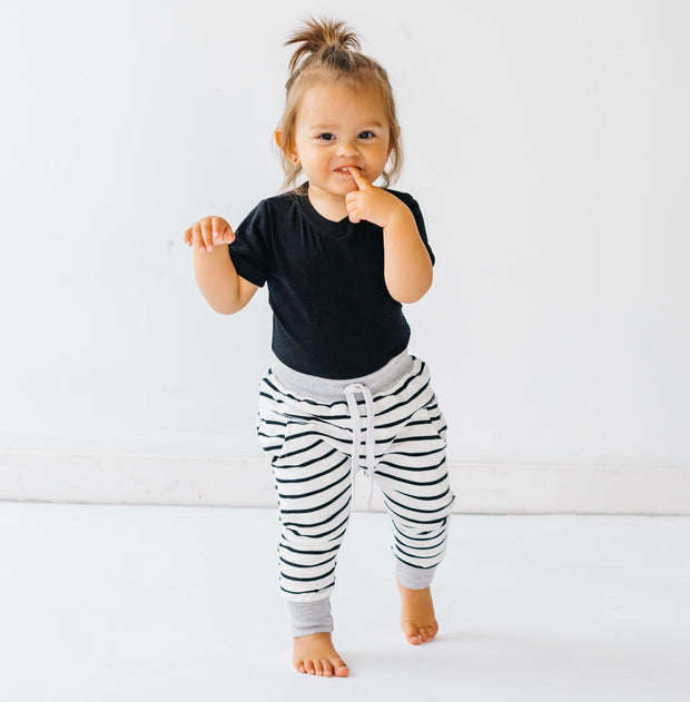 Little Bipsy Collection Basic Onesie and Stripe Joggers