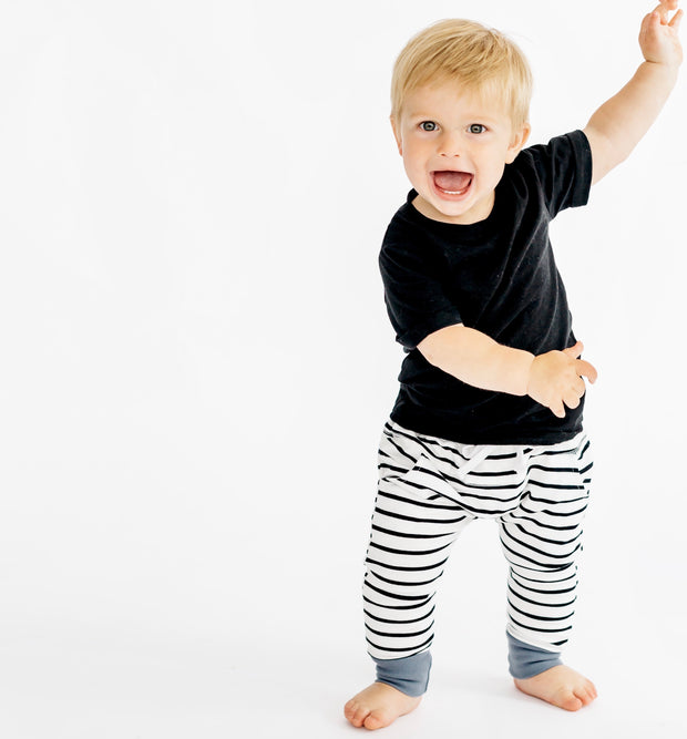 Little Bipsy Collection Basic Tee and Stripe Joggers
