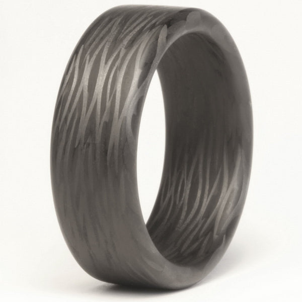 Wave Carbon Fiber Ring - Locabuy - 1