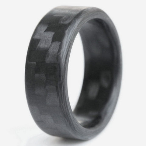 Twill Roundy Carbon Fiber Ring - Locabuy