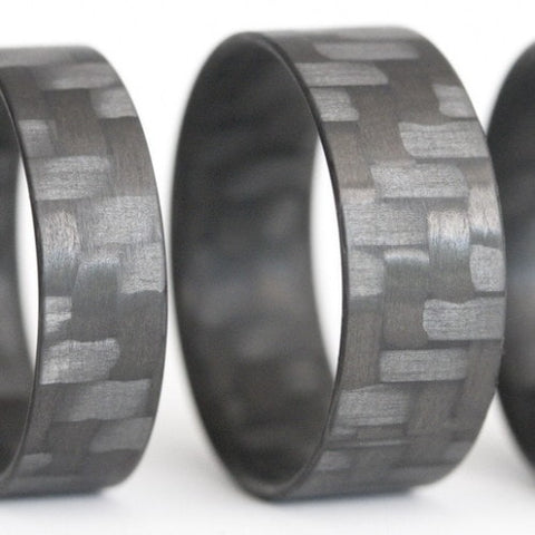 Twill Block Carbon Fiber Ring - Locabuy - 1