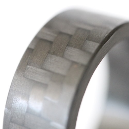 Twill Block Carbon Fiber Ring - Locabuy - 2