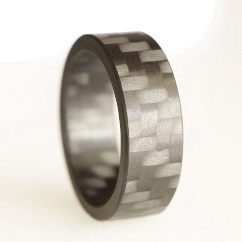 Twill Block Carbon Fiber Ring - Locabuy - 3