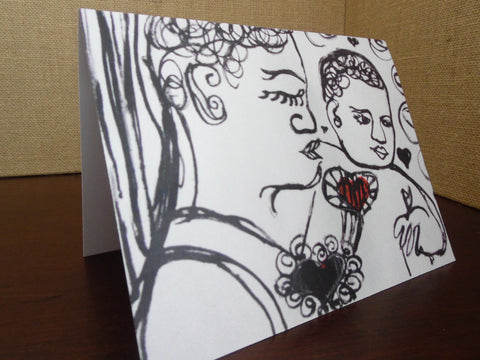 Always Connected Blank Greeting Card - Locabuy