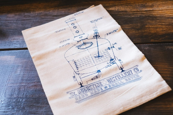 Copper Pot Still Dish Towel - Locabuy - St. Augustine Distillery - 1