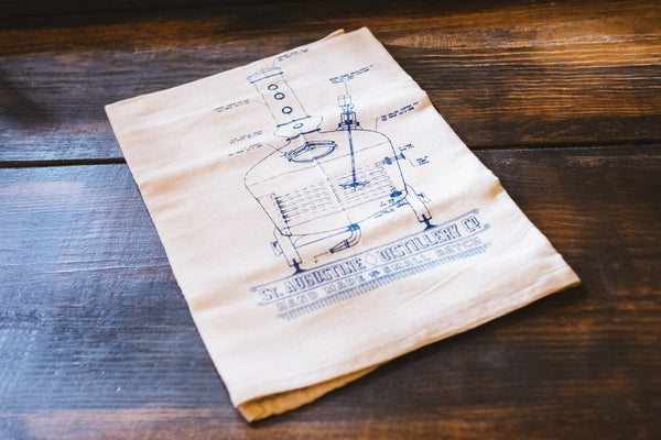 Copper Pot Still Dish Towel - Locabuy - St. Augustine Distillery - 2