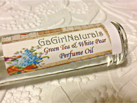 Green Tea and White Pear Perfume Roll On - Locabuy - GaGirlNaturals - 1