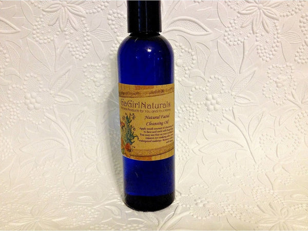 Natural Facial Cleansing Oil and Eye Makeup Remover