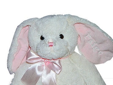 Personalized White Bunny for Girls - Locabuy - Baby Gift Idea - 1