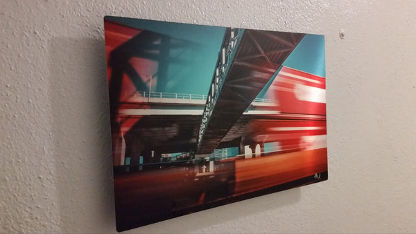 """Catchin the Train"" #1 Limited Edition Metal Print 8x12 gloss silver"