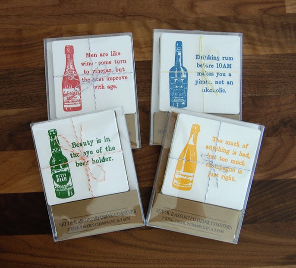 Assorted Drink Coasters (Pack of 8) - Locabuy - Foxtrot Creative Studio - 2