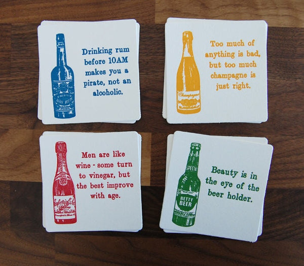 Assorted Drink Coasters (Pack of 8) - Locabuy - Foxtrot Creative Studio - 3