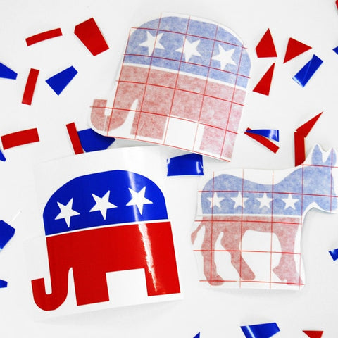 Democrat & Republican Decals - Locabuy - Foxtrot Creative Studio - 1