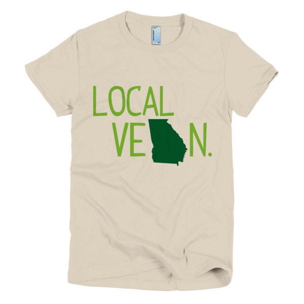 Local VeGAn Short Sleeve Women's T-shirt - Locabuy - 1