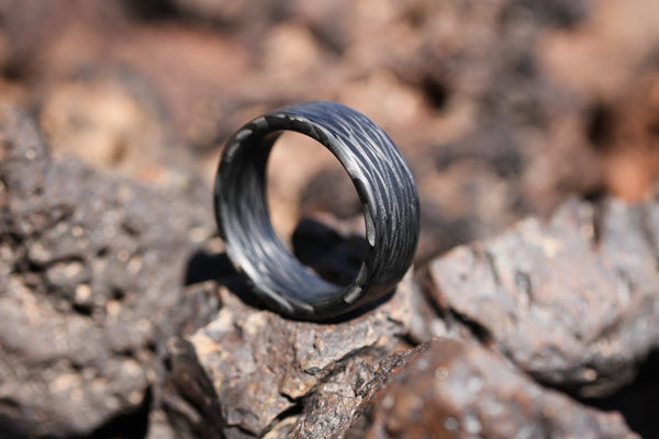 Wave Carbon Fiber Ring - Locabuy - 4