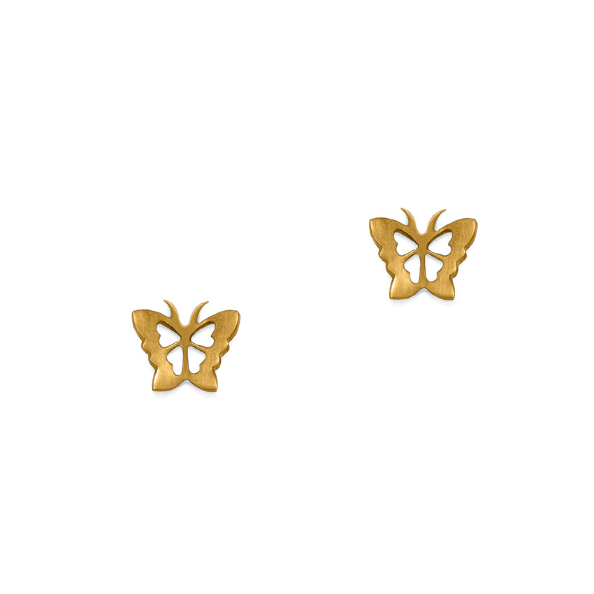 Julia Thompson Gold Butterfly Studs