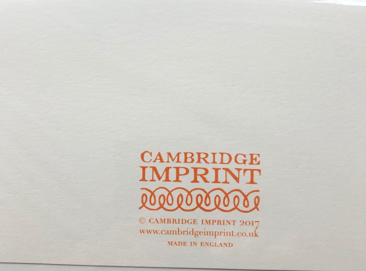 Cambridge Imprints  - click for designs from this collection
