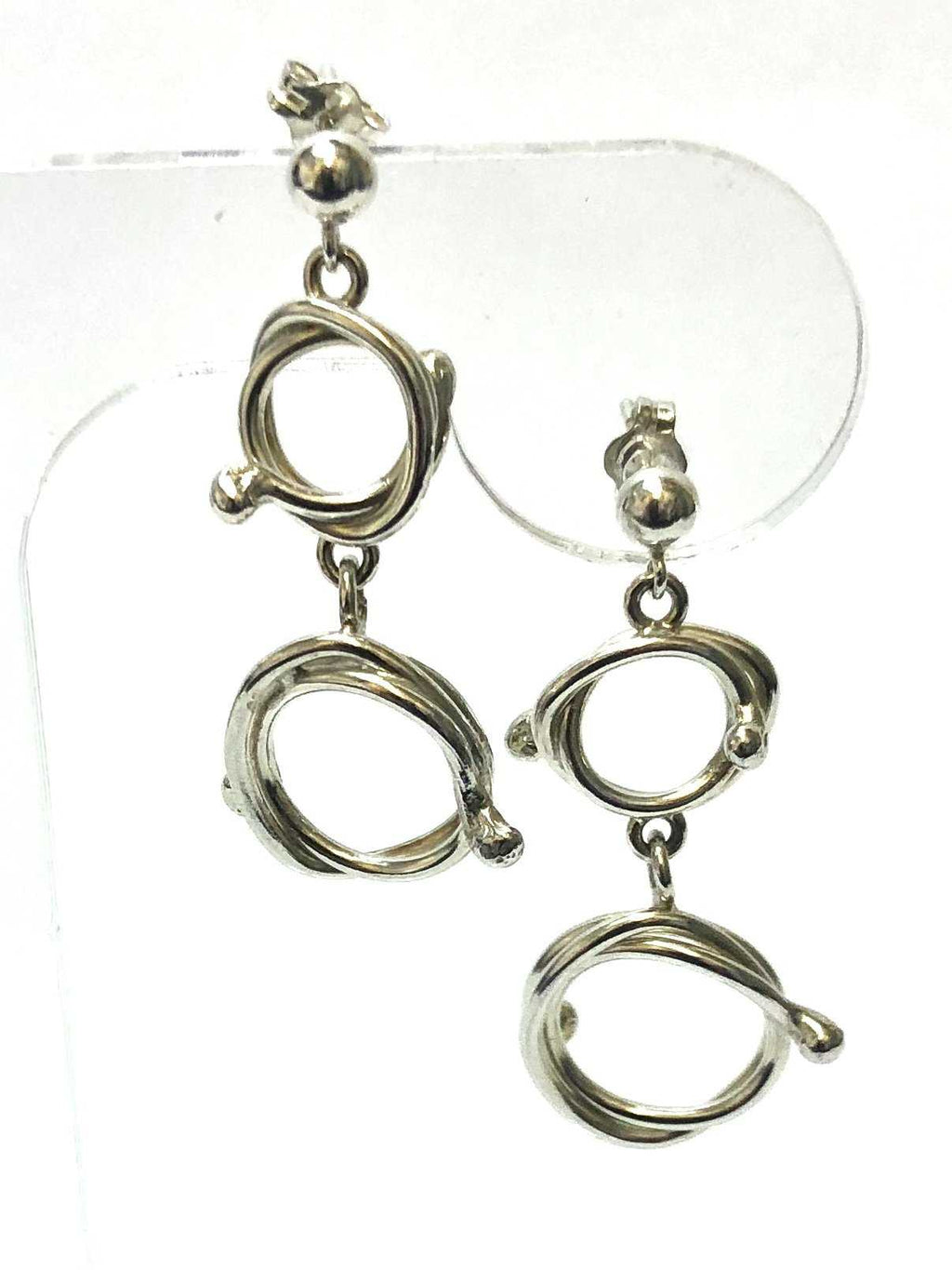 Mackay and Pearson Double Circle Drop Earrings - SHAKSPEARE GLASS