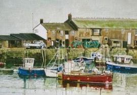 Mary Vanderplank Lyme Regis Harbour print