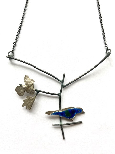 Maker Of The Month Alison Haddon Blackbird Enamel Necklace