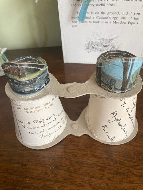 Makers Sale Jennifer Collier Vintage Recycled Paper & Stitch Binoculars