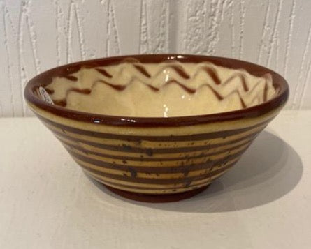 St Werburghs Pottery Small Striped Bowl