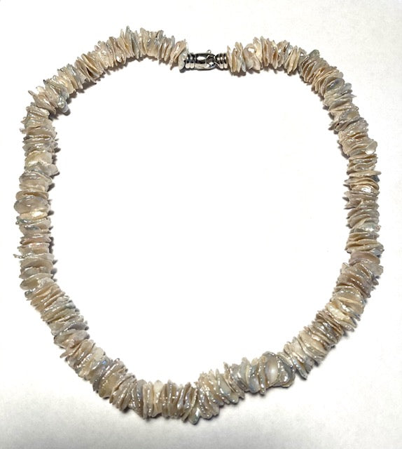 Holly Webb Silver Abalone Shell Necklace