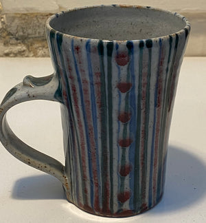 Rob Goldsmith Striped Mug - SHAKSPEARE GLASS