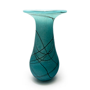 Random Trail Large Aqua Flower Vase