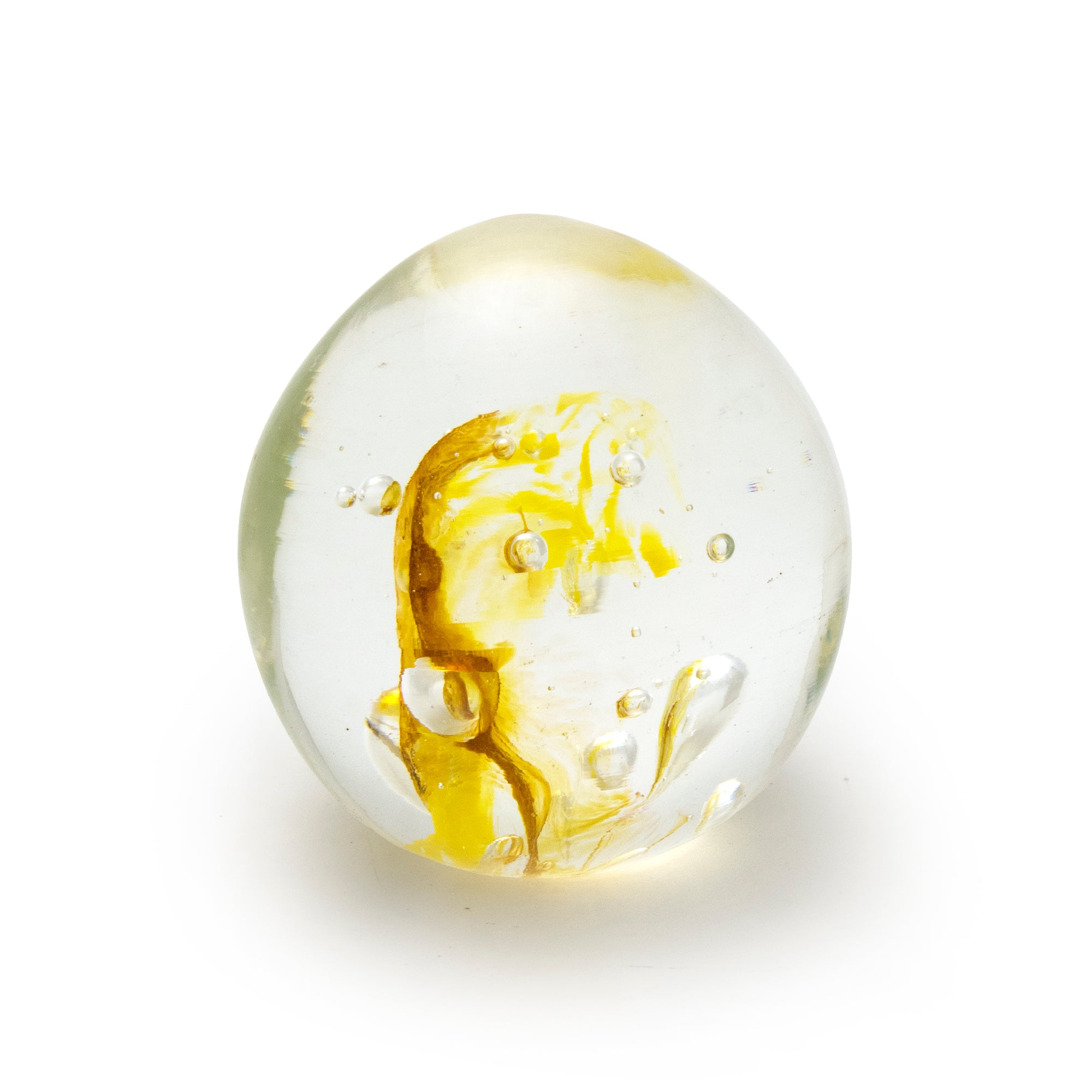 Small Yellow Paperweight