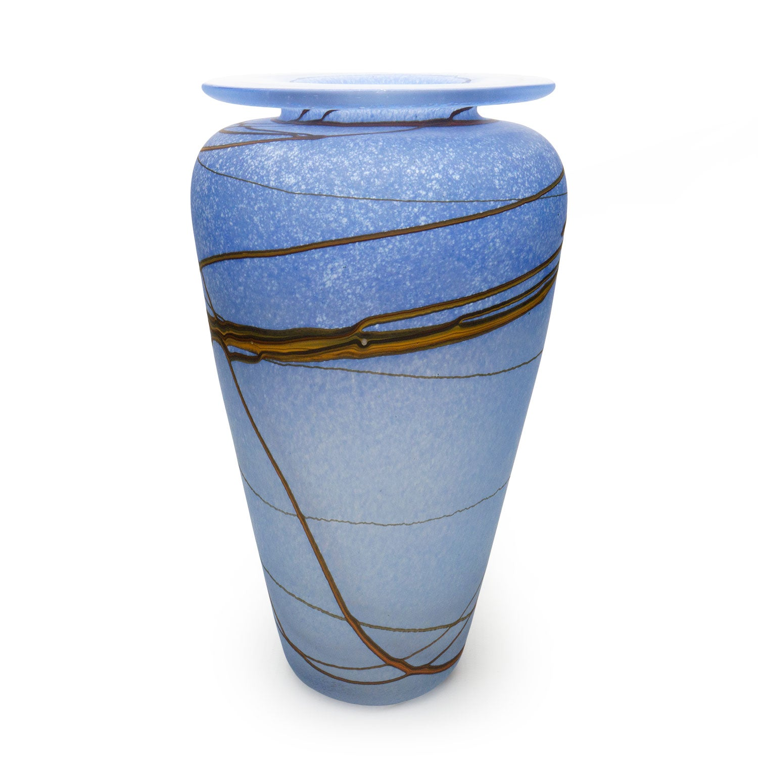 Random Trail Sky Blue Urn - SHAKSPEARE GLASS
