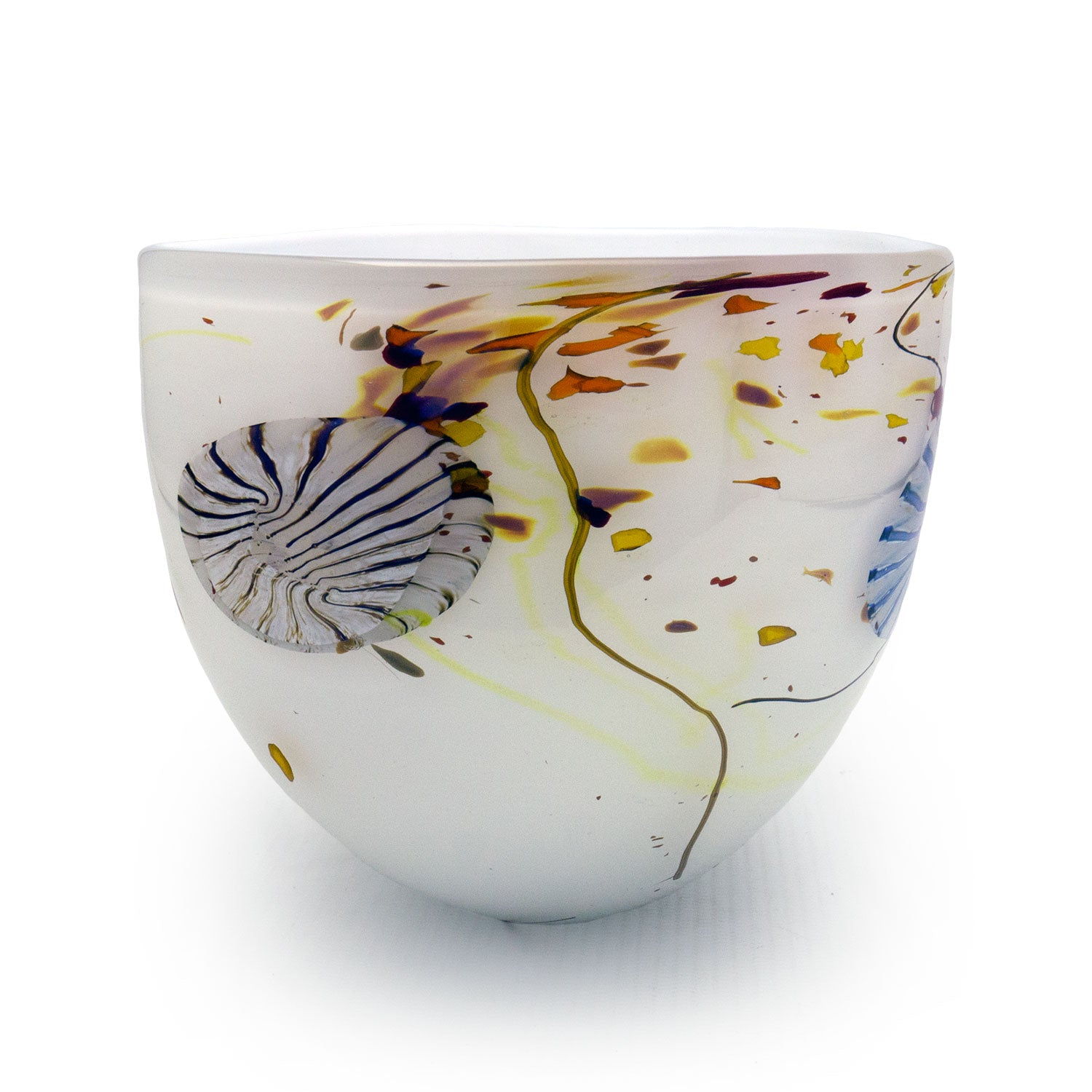 Flotsam White Bowl - SHAKSPEARE GLASS