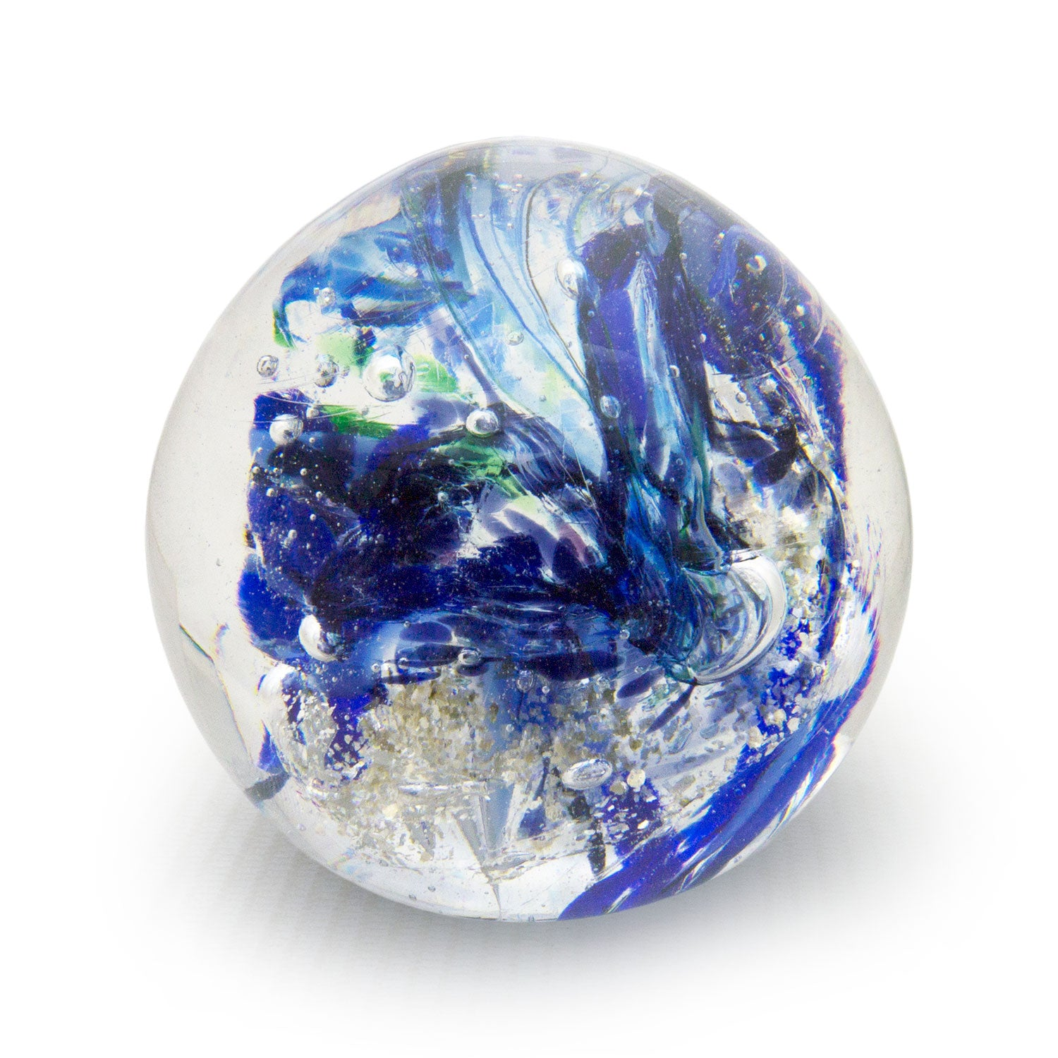 Paperweight Large Blue Chaos - SHAKSPEARE GLASS