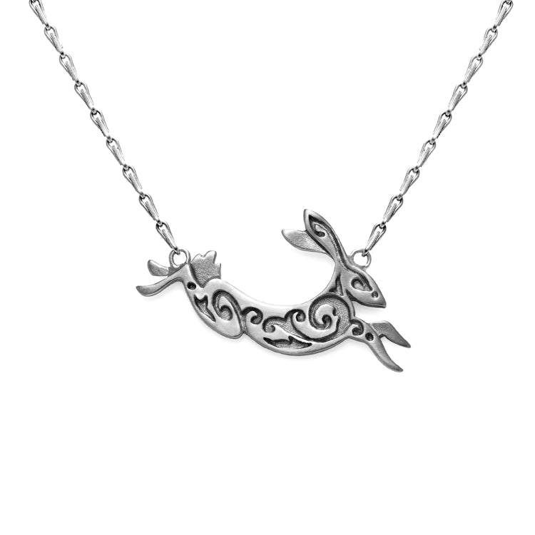 Julia Thompson Silver Hare Pendant