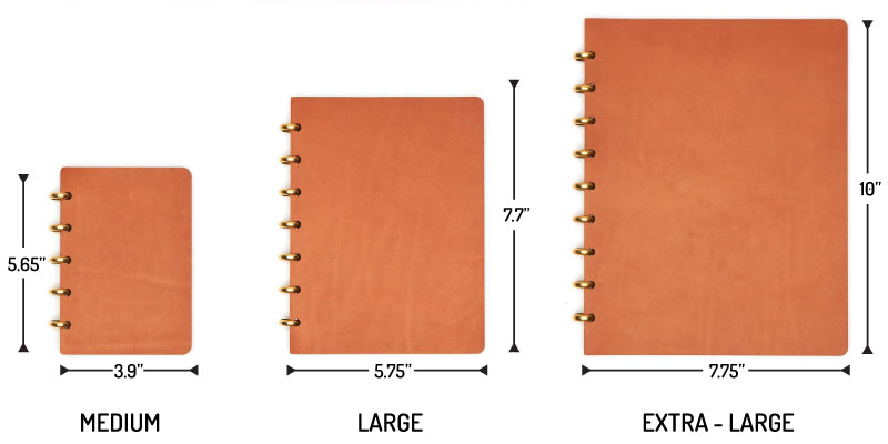 century notebook sizes